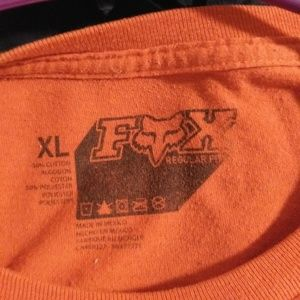 Men's XL Orange Fox Short Sleeve